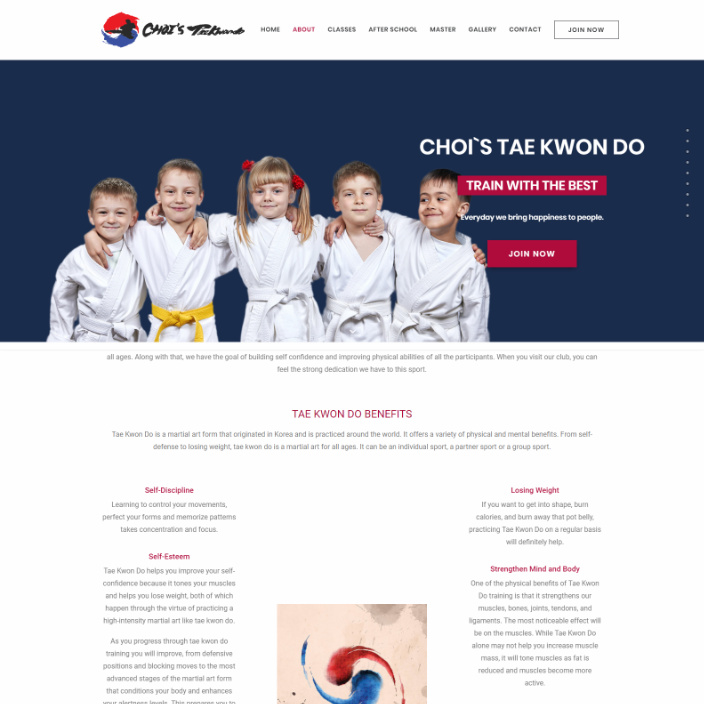 Choi's Tae Kwon Do Martial Arts Hagerstown - WebSite - EnsoStyle